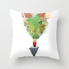 open mind Throw Pillow