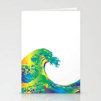 hokusai Stationery Cards featuring Hokusai Rainbow_A by FACTORIE