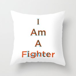Lover and a Fighter Throw Pillow
