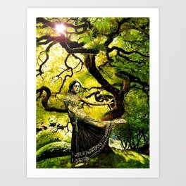Beneath the Bodhi Tree Art Print