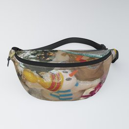 Can i open it now daddy?(Snowman family) Fanny Pack