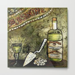 Absinthe * Green Fairy Metal Print