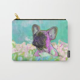 frenchie in the garden Carry-All Pouch