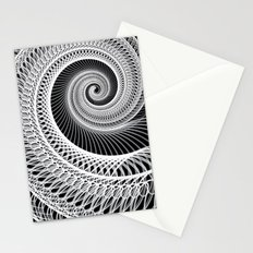 Black And White Skeletal Shell  Stationery Cards