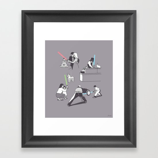 Everyday Lightsabers Framed Art Print