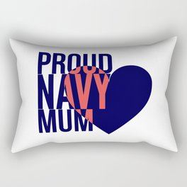 Proud Navy Mum Rectangular Pillow