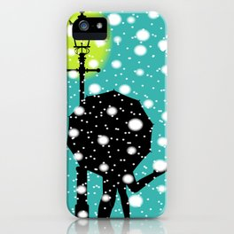 Lamp Post In the Snow iPhone Case
