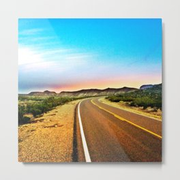 Open Road in Big Bend Metal Print