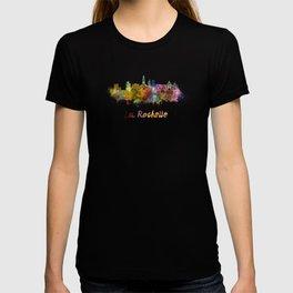 La Rochelle skyline in watercolor T-shirt