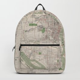 Vintage Map of Portland Oregon (1912) Backpack