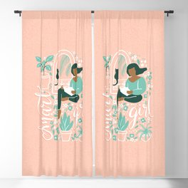 Smart Girl - Cat Blackout Curtain