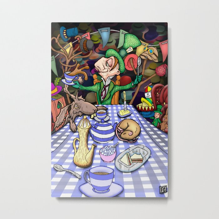 Mad Hatter's Tea Party Metal Print