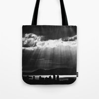 skyline Tote Bags featuring Skyline by ArtBite
