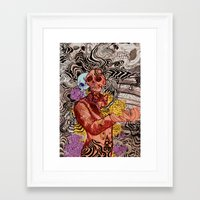 kim sy ok Framed Art Prints featuring Real OK by Ken K Chung