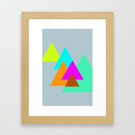 Triangles - neon color scheme series no. 2 Framed Art Print