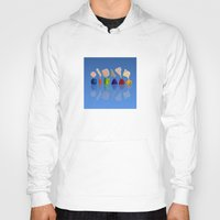 faces Hoodies featuring Faces by Marlene Llanes
