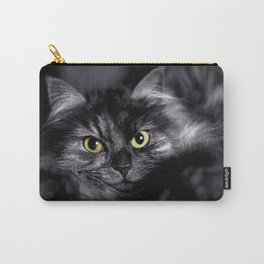 Spooky Black Cat Carry-All Pouch