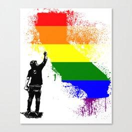 California Wall tagger Rainbow black Canvas Print