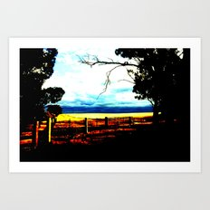 Storm clouds over wheat Fields Art Print