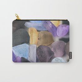 New England beach glass ultraviolet Carry-All Pouch