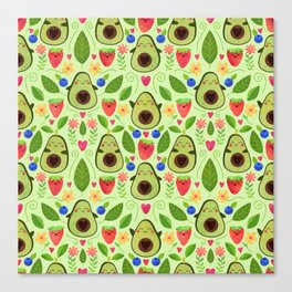 Happy Avocados Canvas Print