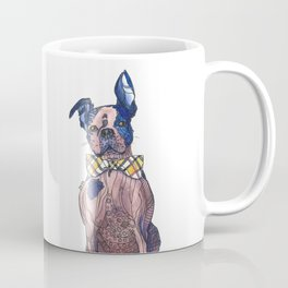 Bulldog in a bowtie, ink and watercolors Coffee Mug