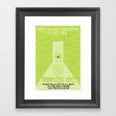 MONSTER INC. Framed Art Print