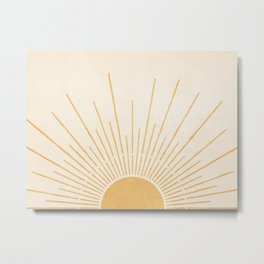 Sun #5 Yellow Metal Print