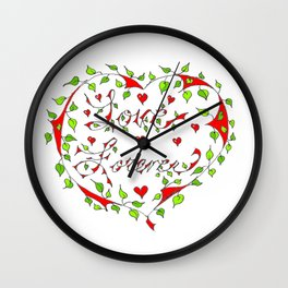 Love Forever Wall Clock