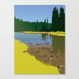 Junction Lake Canvas Print