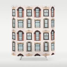 Upper West Side Windows Shower Curtain