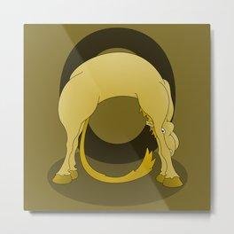 Pony Monogram Letter O Metal Print