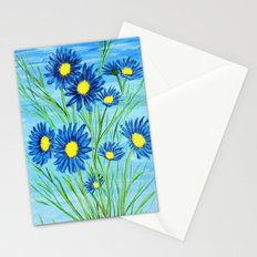 Blue Daisies  Stationery Cards