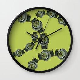 Green D2 Wall Clock