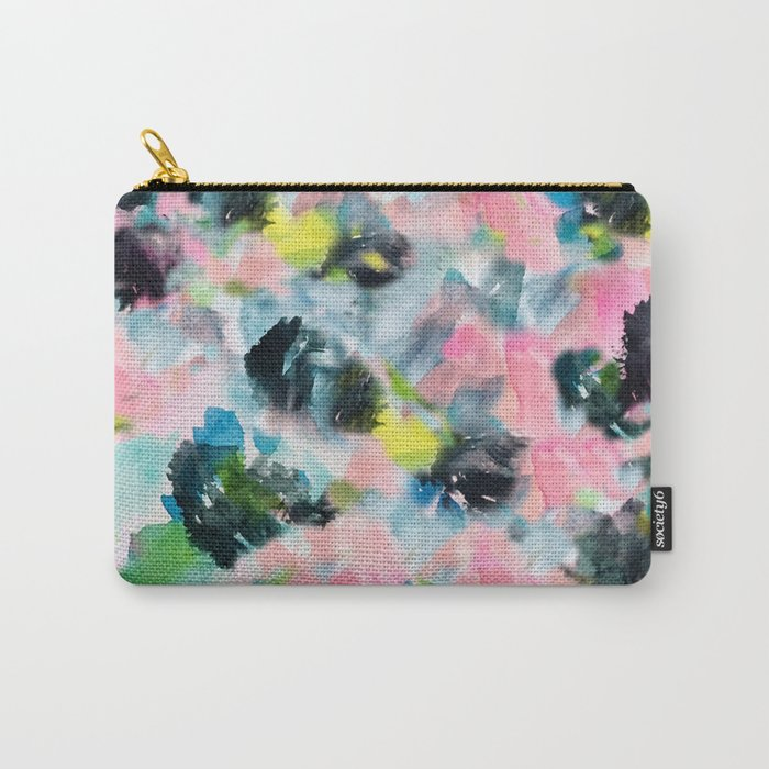 Abstract Floral Carry-All Pouch