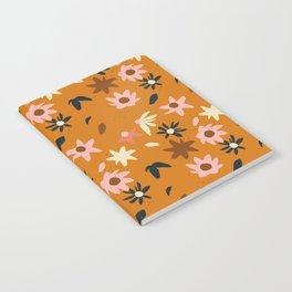 Fall flowers pattern Notebook
