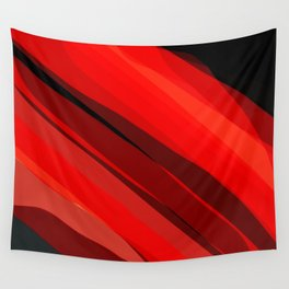 Red Hot fractal art Wall Tapestry