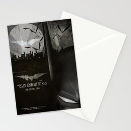 dark knight rises movie fan poster Stationery Cards