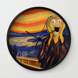 The Screamer - Really Freaked Out Wall Clock