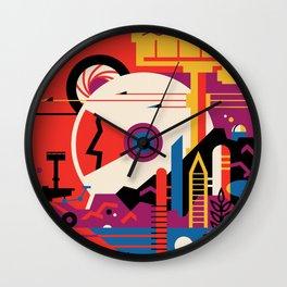 Retro Mars Vacation Ad from NASA Wall Clock