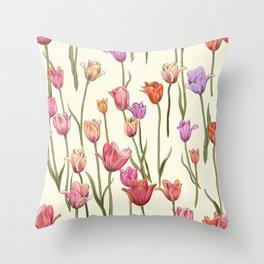 Dutch Tulips Throw Pillow