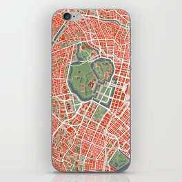 Tokyo city map classic iPhone Skin