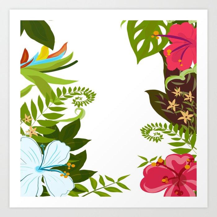 Flowered dreams Art Print