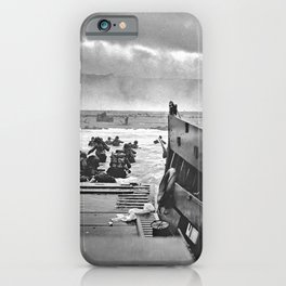 Omaha Beach Landing D Day iPhone Case
