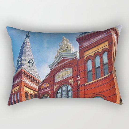 Washington DC Red Brick Rectangular Pillow