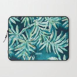 SANTA CRUZIN' Navy Tropical Palm Leaves Laptop Sleeve