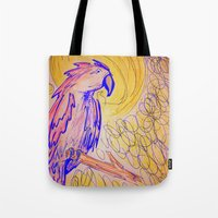 parrot Tote Bags featuring PARROT  by MAGIC DUST