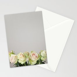 Green Roses Stationery Cards