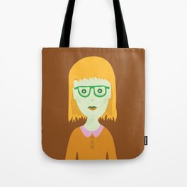 The Girl with the Baby Bangs Tote Bag