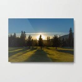 Sunset of the Golf Course Metal Print